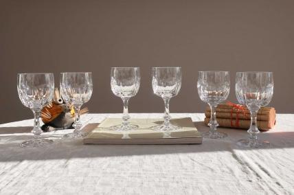 Chinon verres a vin cristal daum