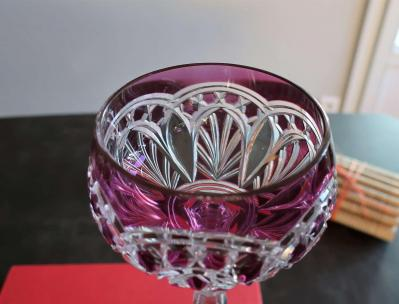 Couleur amethyste baccarat overlay cristal double