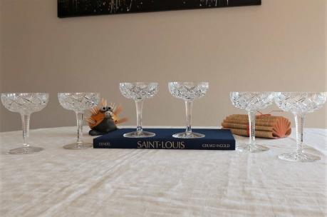 Coupe a champagne cristal saint louis florence
