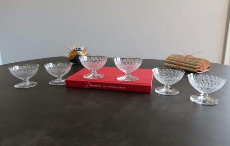 Coupe chateaubriant gravure rohan baccarat cristal