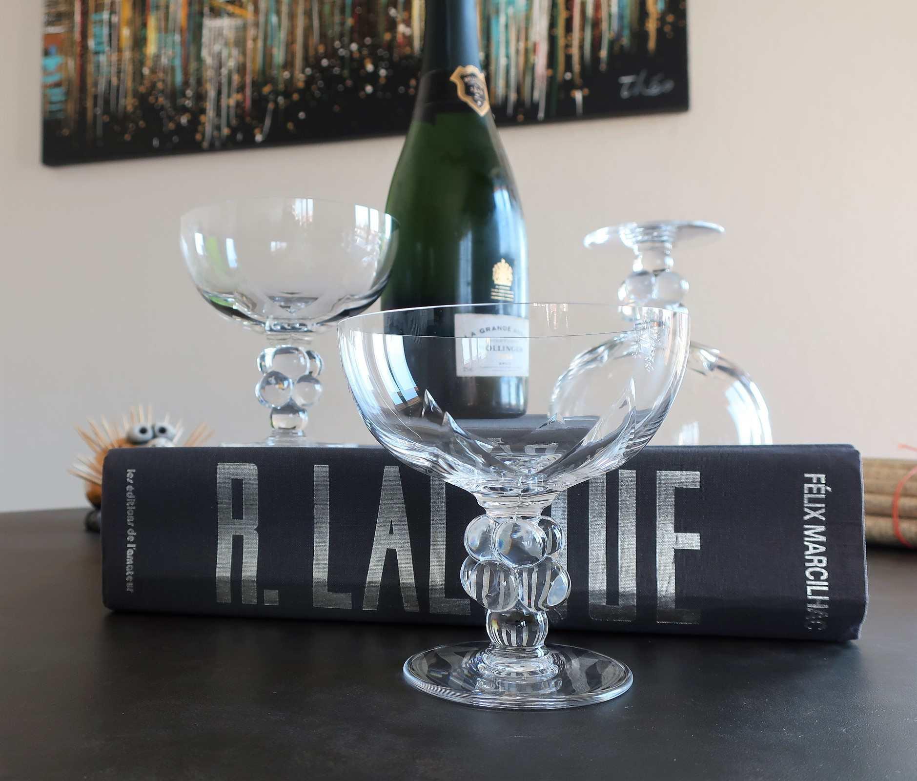Coupe Clos Vougeot, cristal Lalique
