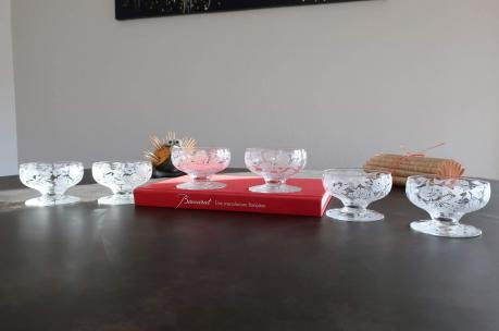 Coupes art deco baccarat champagne cristal fontenay