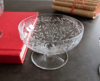Coupes champagne anciennes cristal baccarat