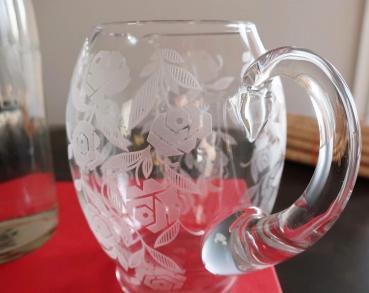 Cristal ancien broc carafe baccarat