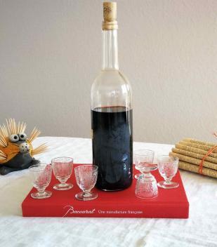 Cristal baccarat ancien service liqueur