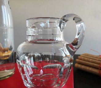 Cristal baccarat broc a eau ancien