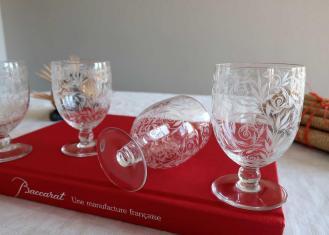 Cristal baccarat verre ancien golfe juan