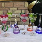 Cristal baccarat verres couleurs