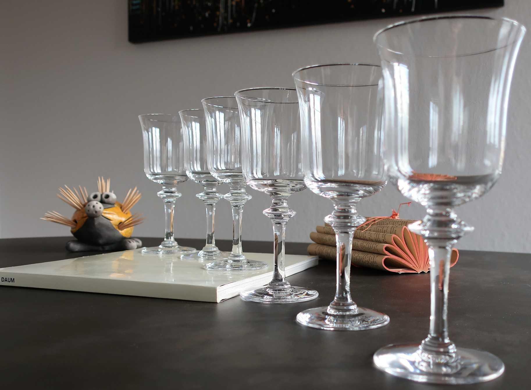 Verres Saumur, cristal Daum