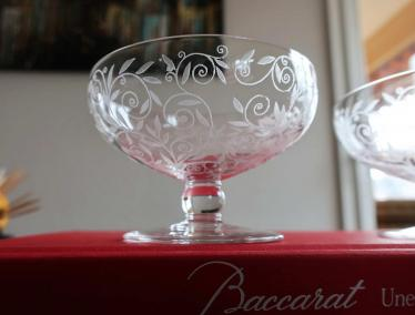 Cristal gravure stylisee baccarat