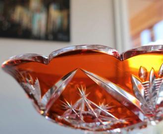 Cristal overlay baccarat orange