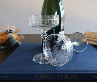Cristal saint louis coupe a champagne
