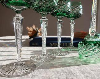 Cristal saint louis verre filigrane