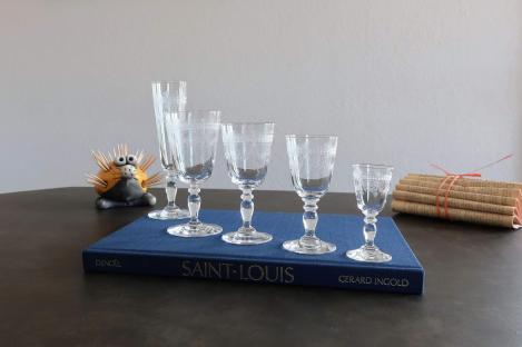 Cristal saint louis verres ancien papin