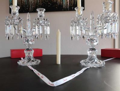 Eclairage baccarat cristal bougies