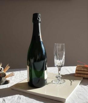 Flute champagne chinon cristal daum