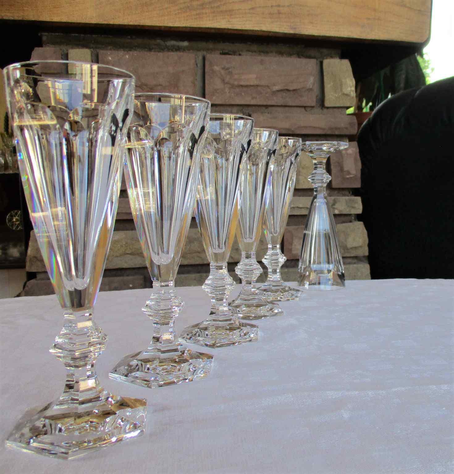 Service de verres Harcourt en cristal de Baccarat