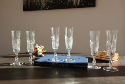Flutes liane saint louis cristal