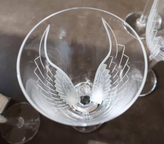 Gravure ailes ange lalique