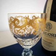 Gravure or trianon verre saint louis cristal