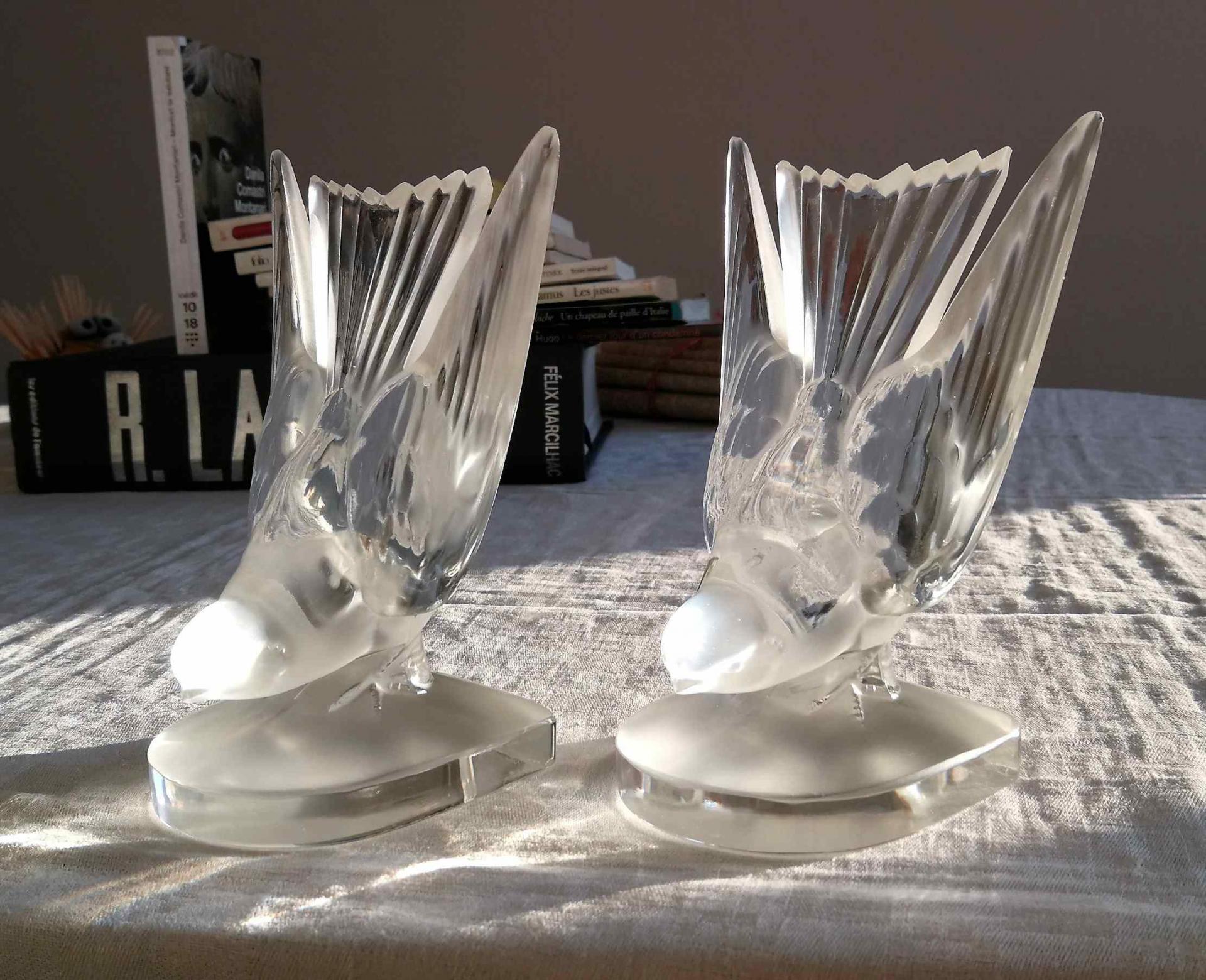 Serre-livres Hirondelle, Lalique