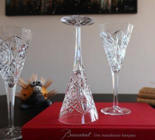 Lagny baccarat cristal verres a champagne