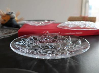 Lagny cristal baccarat assiette
