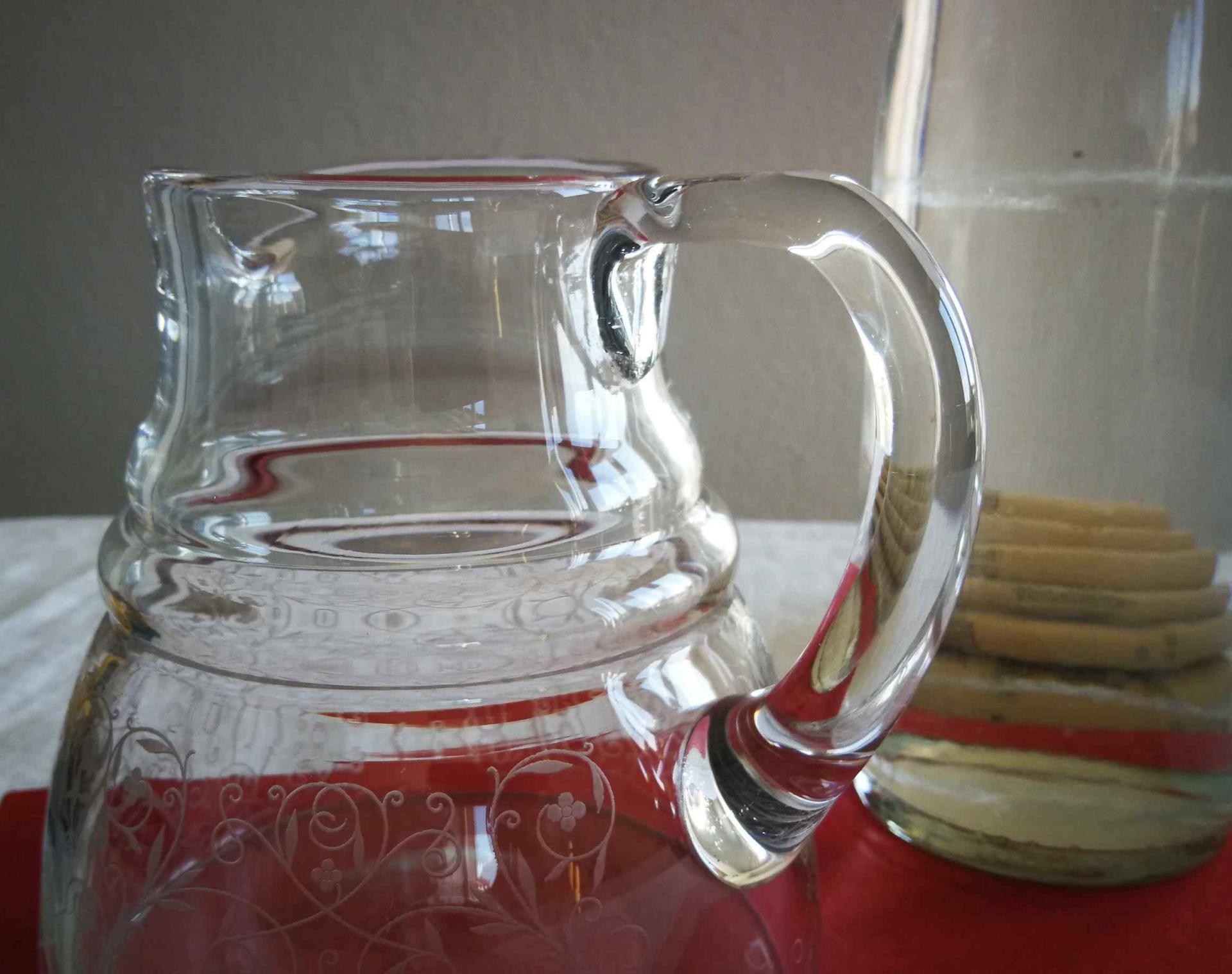 Broc à eau cristal Baccarat, service Lulli