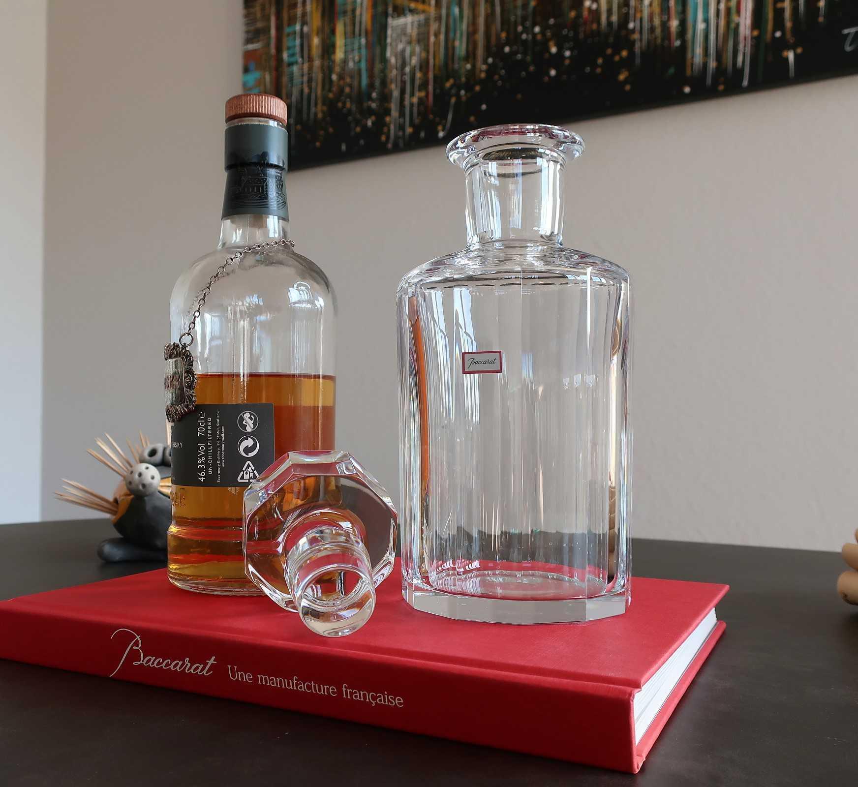 Flacon à whisky Monaco, cristal Baccarat.