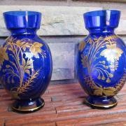 Paire vases cristal saint louis