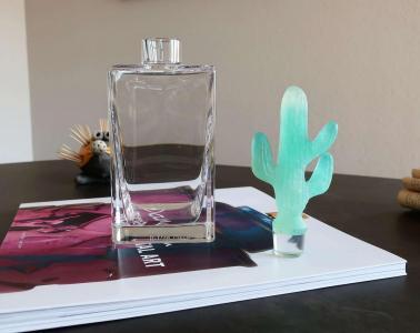 Pate de cristal cactus flacon carre