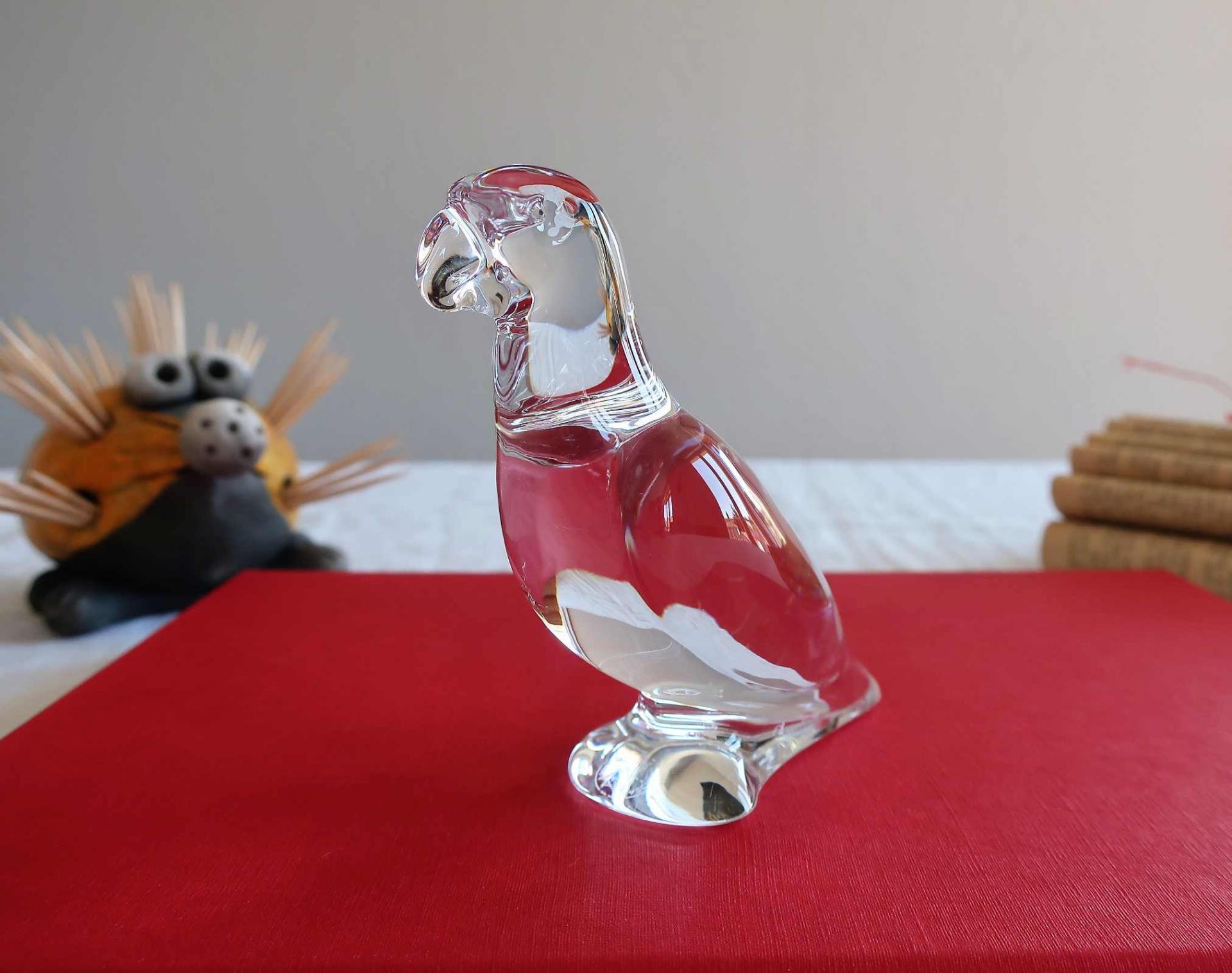Perroquet cristal de Baccarat
