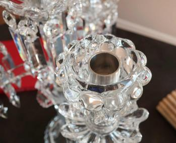 Porte bougies cristal baccarat photophore verrine