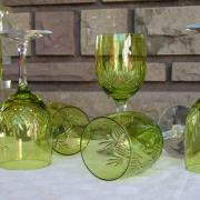 Roemer jambe taille basse chartreuse cristal