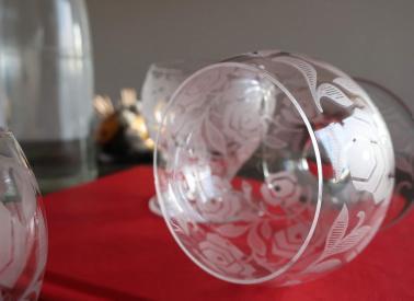 Rose fontenay verres service baccarat