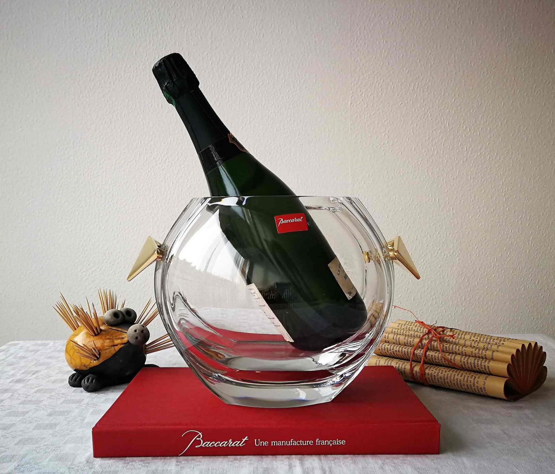 Seau à champagne Baccarat. Elysée.