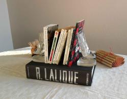 Serre livres lalique hirondelles