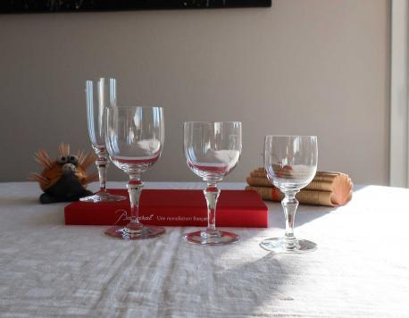 Service de verres en cristal baccarat normandie