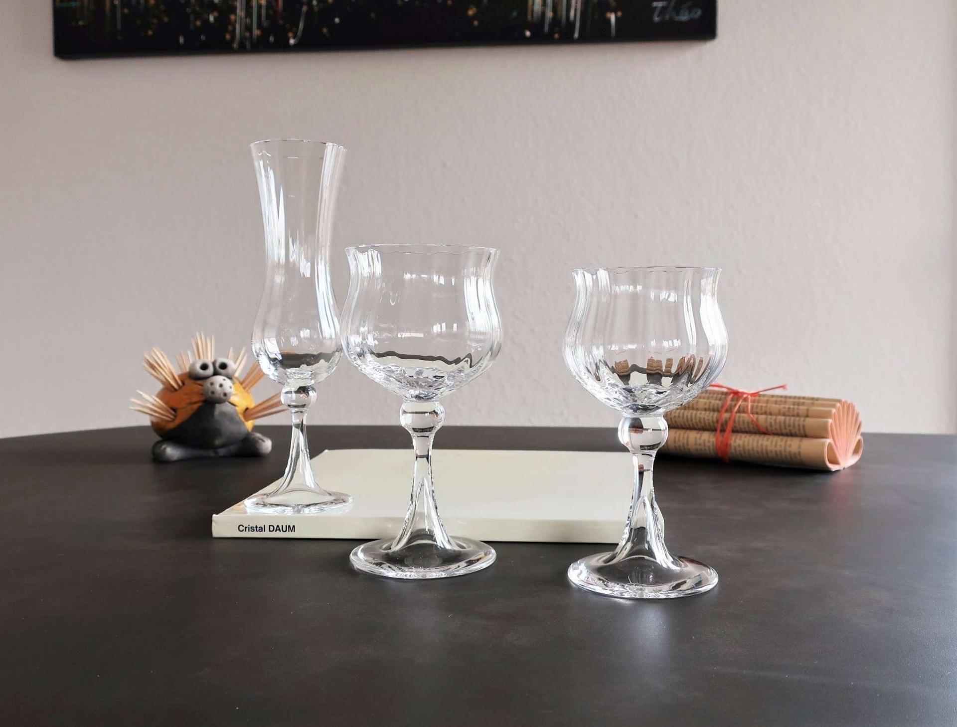Vérone, service de verres cristal Daum