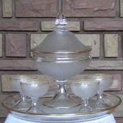 service fruits griottines cristal saint louis