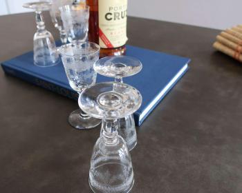Service verres porto cristal ancien