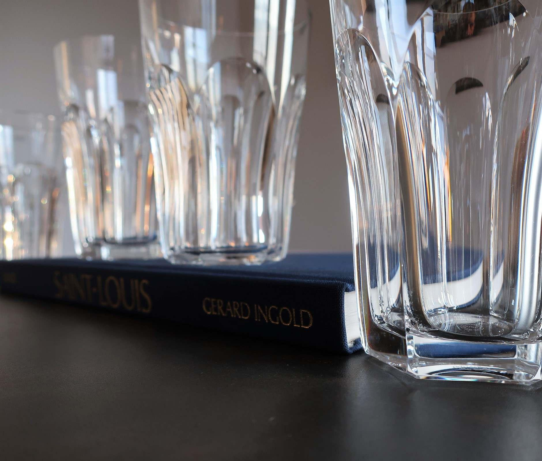 Chopes Chambord cristal Saint Louis.