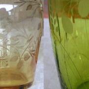 St louis cristal ambre mousse couleur