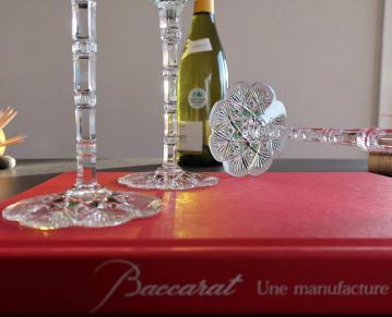 Tableware crystal cut baccarat france