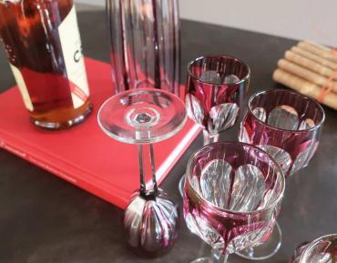 Tableware glasses baccarat crystal antiquites