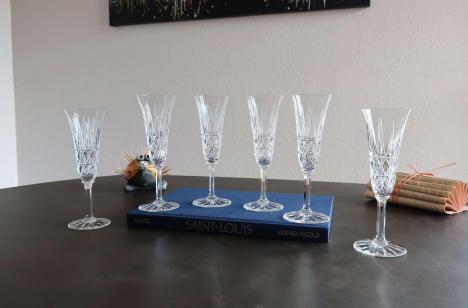 Tarn cristallerie saint louis flutes