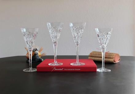 Verre a champagne baccarat cristal ancien