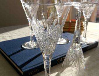 Verre a vin cristal service nelly st louis