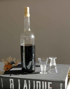 Verre cristal liqueur bourgueil lalique