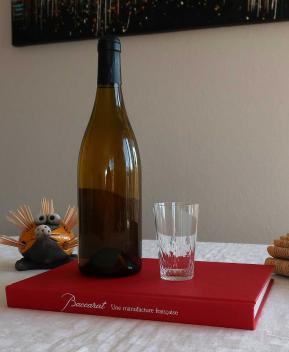 Verre gobelet ancien champigny richelieu cristal